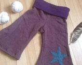Arbutus Pants.  Hemp/organic cotton baby yoga pants.  Size 12 months.