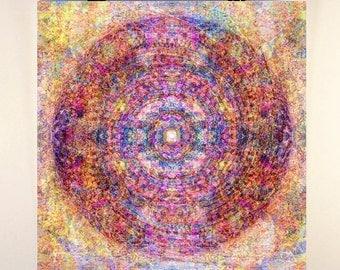 "Mandala Art 12x12'' print ""Ancient"" - Peaceful Sacred Geometry Art Print"