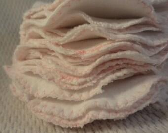 Natural White Cotton Flannel Reusable Cloth Nursing Pads - 4 Sets Value Pack - F600