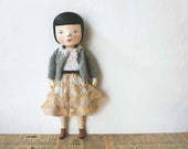 RESERVED FOR ALEXA Clay and cloth art doll - Jeanne - One of a kind