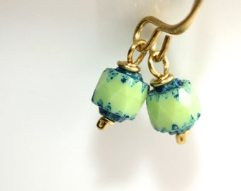 Cathedral Glass Earrings - 'Good Times Provided'