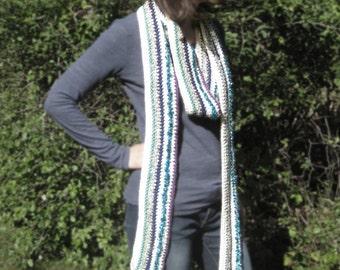 Tudor long stripe scarf