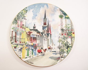 Vintage Royal Doulton French Quarters Collector Plate New Orleans Dong Kingman