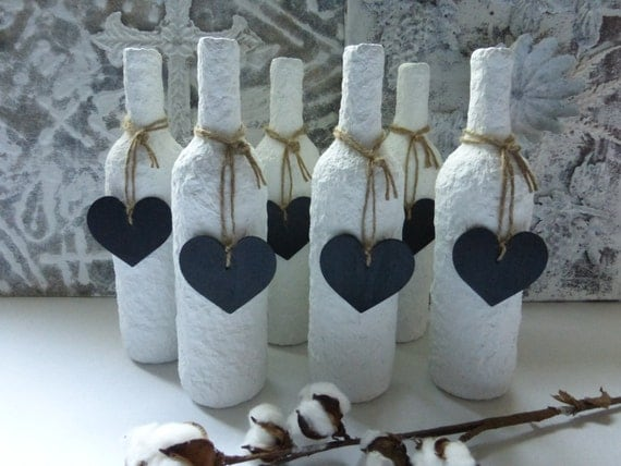 items similar to bottle art weddings shower decor sculpture vase table numbers wine bottle. Black Bedroom Furniture Sets. Home Design Ideas