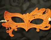 Fairy Eyes Lace Mask in Marigold color