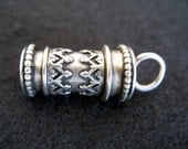 Antique Sterling Silver Hallmarked Cylinder Charm or Pendant
