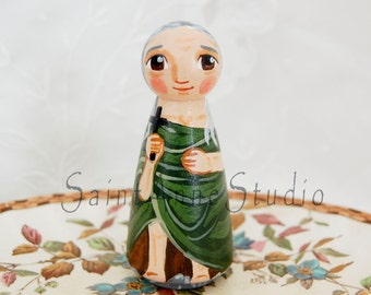 St Mary of Egypt Catholic Saint Doll - Wooden Toy - Made to Order