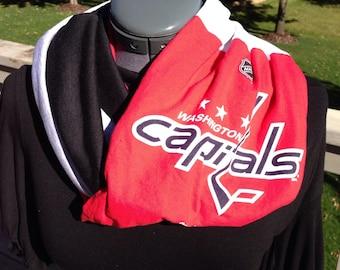 Washington Capitols Recycled T Shirt Infinity Scarf