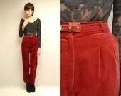 Velvet Pants  //  Velvet Trousers  //  RED HOTS