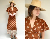 70s Folk Dress  //  70s Maxi Dress  //  YOUNG INNOCENT