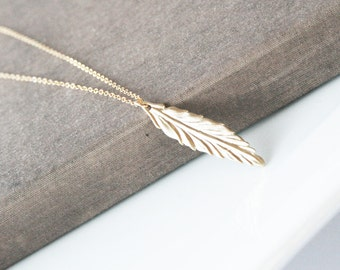 Long Necklace,Gold Necklace,Leaf Necklace,Layering Necklace,Layered Necklace,Minimal Necklace,Bridesmaid Gift