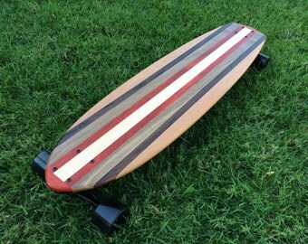 "Longboard Custom Made with 5 types of wood - ""Doheny"""