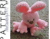 INSTANT DOWNLOAD : Babys First Plushie - Bunny Crochet Pattern