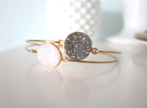 Personalized Druzy Bangle