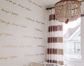 Vinyl Wall Sticker Decal Art - I will love you, Always and Forever