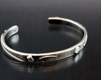 Unique Handmade Silver cuff bracelet, Silver Cuff Bracelet, Silver Cuff ,Rustic Jewelry, Handmade Bracelet,Silver Jewelry