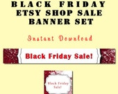 Black Friday  Banner+FREE AVATAR Instant Download X-MAS