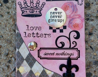 Old Love Letter Self Help Altered Art Card Gift Idea Philosophical