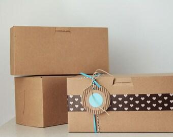 6- 8 x 4 x 4 inch  Kraft Cupcake or Gift Boxes