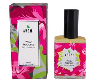 Wild Blooms Eau De Parfum.  Floral, fruity perfume.