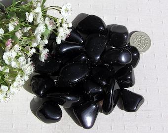 10 Black Obsidian Apache Tears Crystal Tumblestones, Crystal Collection, Obsidian Crystals, Chakra Crystals, Meditation Stone, Grounding