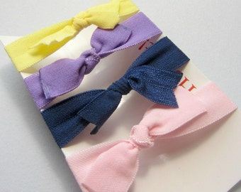 Set of 4 Hair Ties, Ponytail Holders, Elastic Hair Ties, Elastic Bracelet, Girl Baby Woman Ponytail Holder