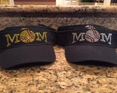 Softball and Baseball mom Rhinestone visor
