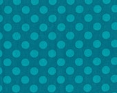 Ta Dot in Teal, Michael Miller Fabric, 1 Yard, Additional Yardage Available