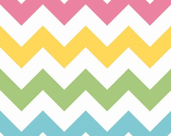 Large Chevron in Girl by Riley Blake Fabrics, 1 Yard