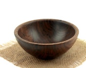 Wooden Walnut Bowl /  Candy Dish / Wood Fruit Bowl