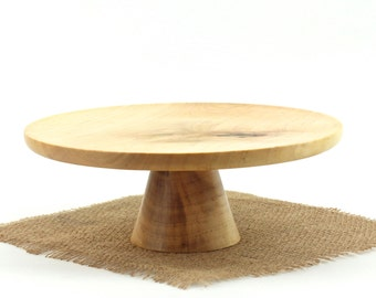 Wooden Maple Cake Stand / Pedestal Cake Plate /Cupcake Stand