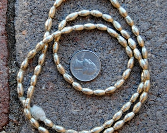 African Silver Beads: (5x10mm)