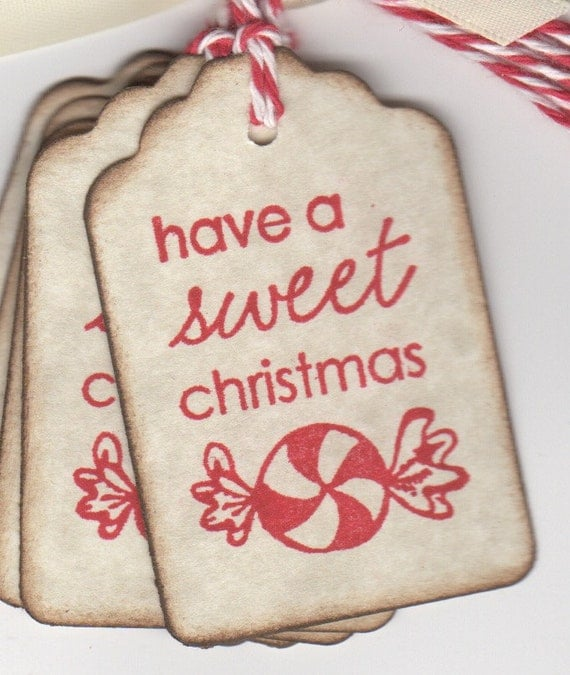 6 sweet christmas gift tags peppermint candy gift tags for for Homemade baked goods for christmas gifts