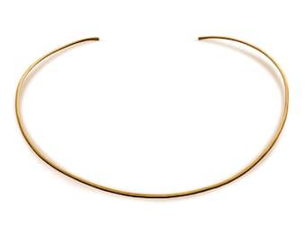 Gold Choker Collar / Cuff Choker / Gold Choker / Thin Gold Choker Necklace  14k Gold Filled Choker / Hammered Gold Collar / Gold Halo Collar