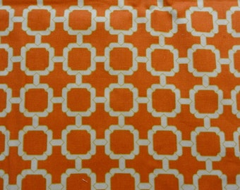 Orange Chains Upholstery Fabric- Mill Creek Fabrics- Remnant 3.5 Yards x 12 Inches wide