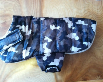 Waterproof Insulated Camo Print Dog Winter Jacket, dog jacket, puffer jacket, dog coat