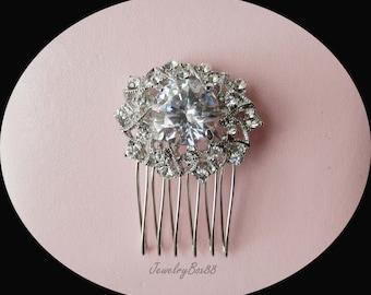 Wedding Bridal Hair Comb, Rhinestone Bridal Hair Comb, Bridesmaids Hair Comb, Silver Crystal Hair Comb #H3104