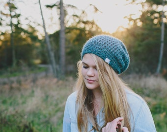 Jacquard Slouchy Hat for Kids, Toddler Hats, Youth Beanie, 2T to 4T, 5T to Preteen (Morgan) READY TO SHIP