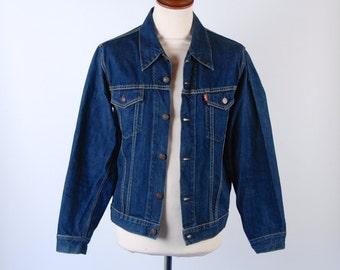 1960's Style BIG E Levi's Type 3 Denim Jacket, Levi's Trucker Jacket, Levi's Type III Denim Jacket, Size Medium