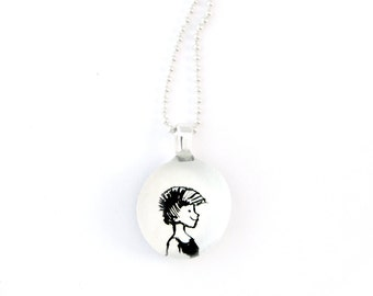 Mohawk girl necklace