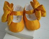 Mary Jane Shoes With Large Bow SUNSHINE  by Bobka Baby