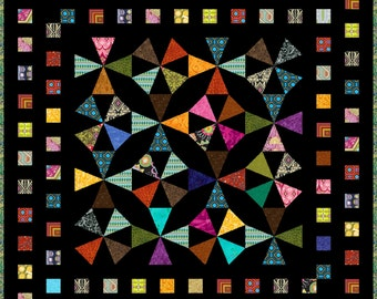 "EXPRESSION - Lap 53"" x 53"" - Quilt-Addicts Pre-cut Quilt Kit or Finished Quilt"