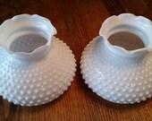RESERVED for srexford3 SHARON    Hobnail Lamp Shades