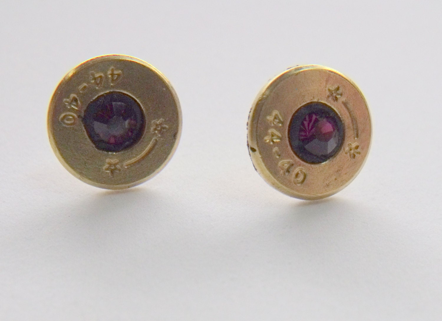 jewelry bullet earrings stud post style from recycled 44 40