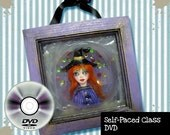 Halloween Witch CLASS self paced DVD format Learn to sculpt a miniature witch in a picture frame