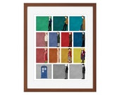 Doctor Who print - All 12 Doctors + the War Doctor + the TARDIS