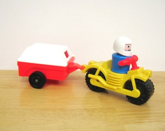 RARE Vintage Fisher Price Europe Only Motorcycle
