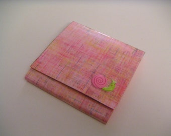 Pink Post-It Notes Pad with Green and Pink Happy Snail