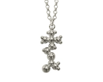 Acetylcholine (Dreaming and Learning) 3D Molecule Pendant -Sterling Silver