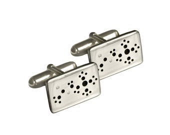 Acetylcholine Cufflinks (Learning and Dreaming Molecule) Sterling Silver